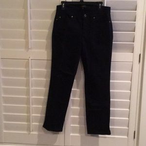 Stretch cotton black Talbots jeans